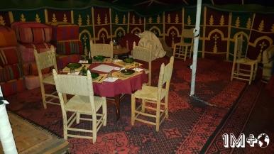 Interior de la jaima