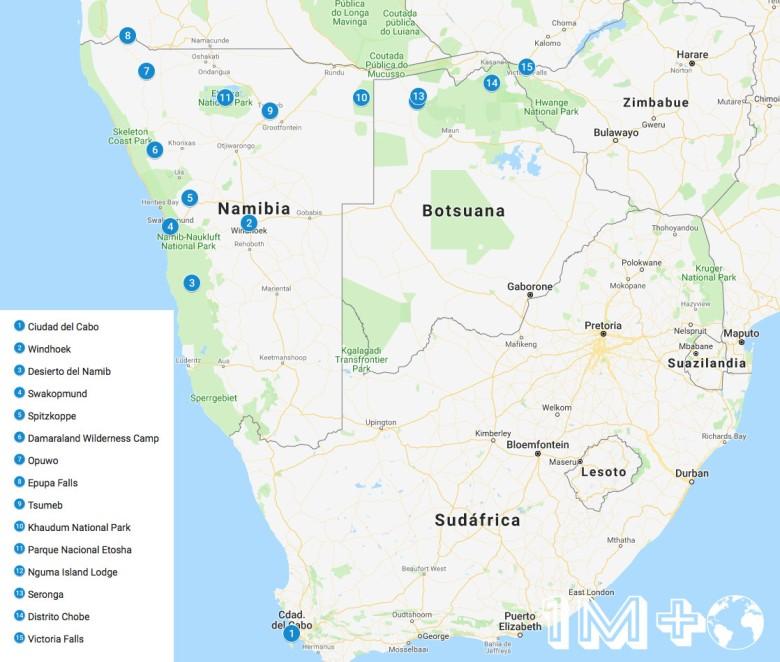ruta por el sur de africa