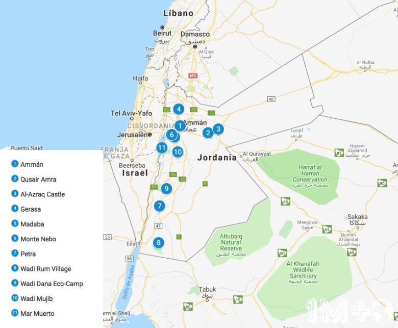ruta por jordania